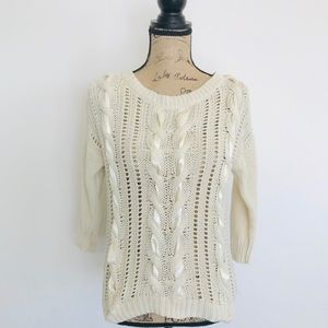 CHUNKY CABLE Knit Sweater, Small, Lauren Conrad
